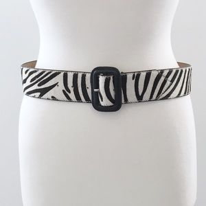 Talbots Calf Hair Zebra Print Belt